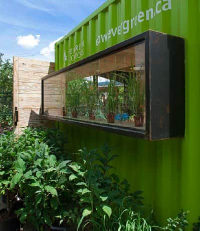 evergreen 41 Welcome hut from container in social architecture  with Social Garden Container 