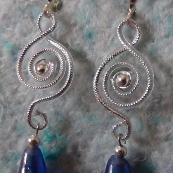 Recycled Headset Cable Into Earrings