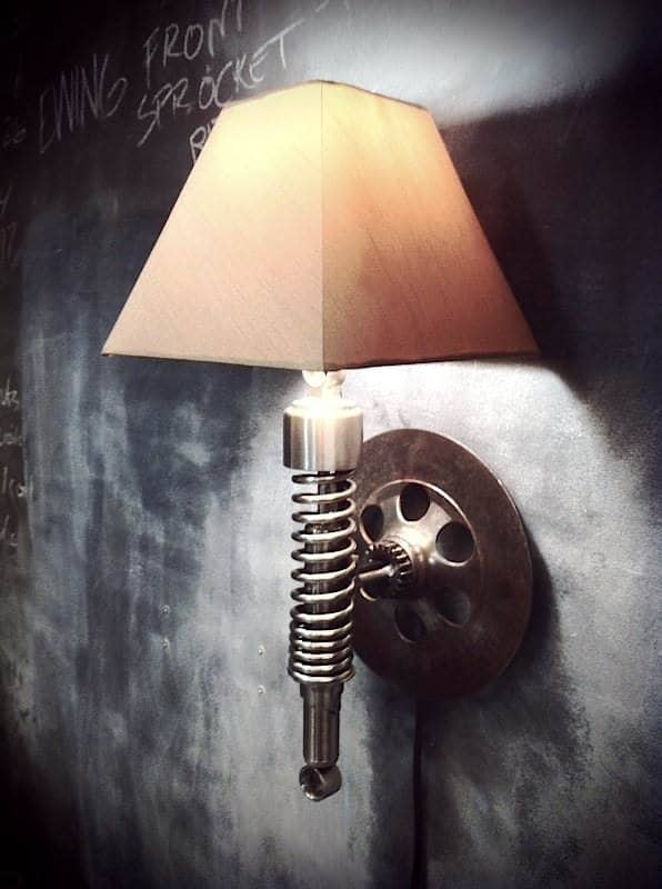 Classified moto in metals accessories  with Lamp Handcrafted custom