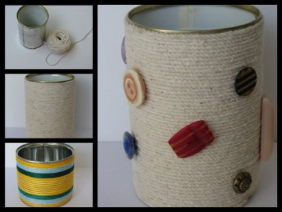 Recycled tin can