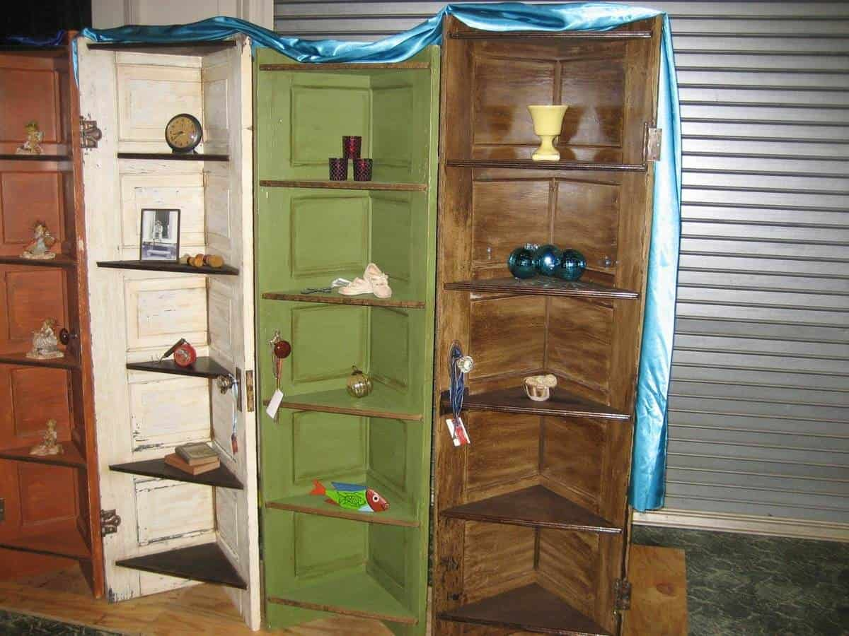 Cool Corner Shelves From Old Doors  Recycled Ideas  Recyclart