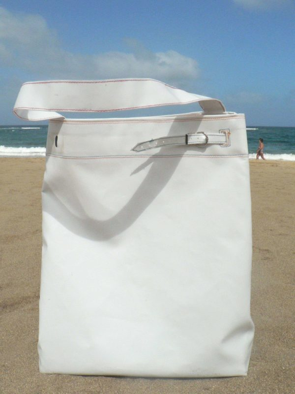 Simply White   Shopping and relax Bag by Barracuda Bags in accessories  with Recycled mondrian Inner tube Bags