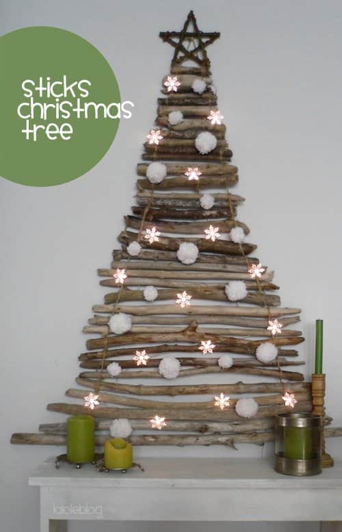 Stick Christmas Tree Do-It-Yourself Ideas Wood & Organic