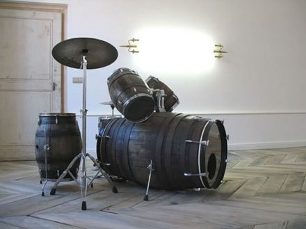 Wine barrels drum set