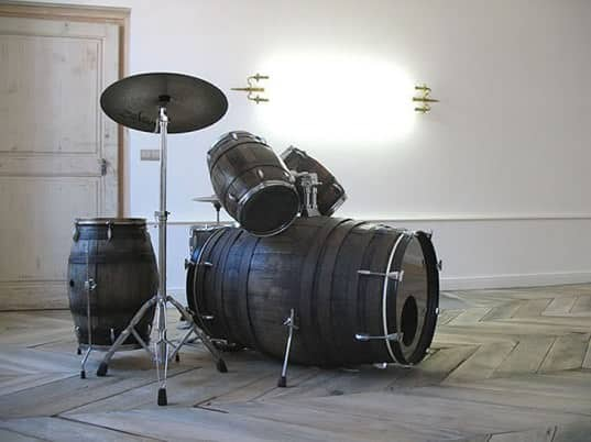 Wine barrels drum set in wood  with Wine Drum Barrel