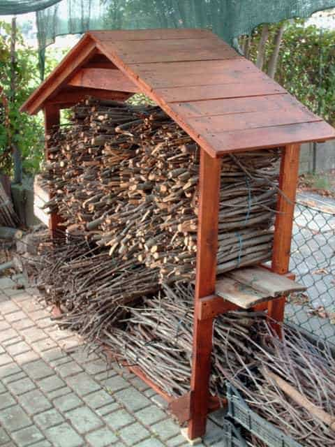 Pallet house for firewood in pallets 2 architecture  with