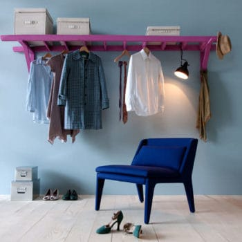 Ladder --> clothing rack