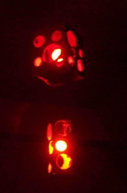 Small cardboard box lantern