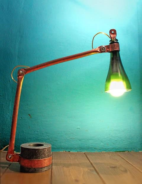 Copper Table Lamp Lamps & Lights Recycled Glass