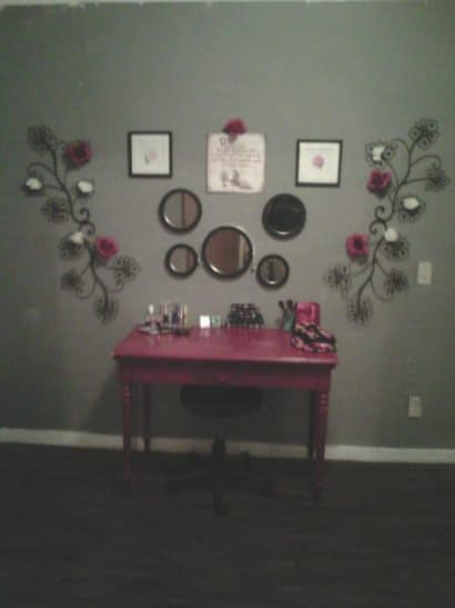 Revamped makeup station