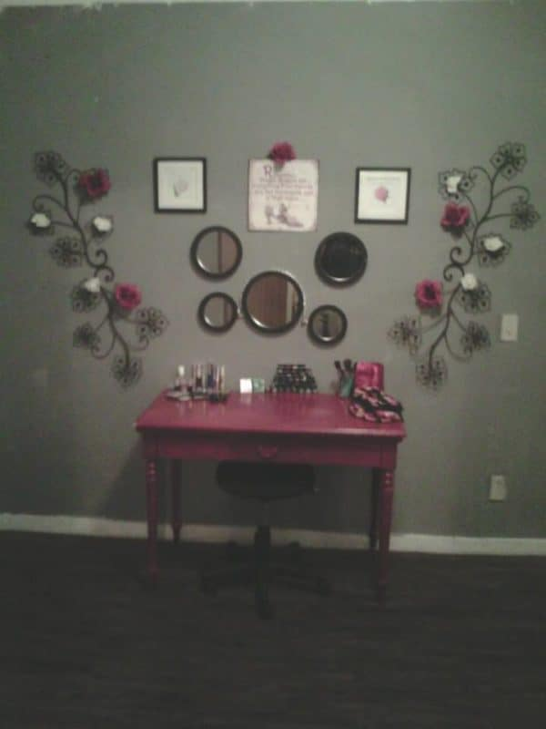 Revamped makeup station Recycled Furniture