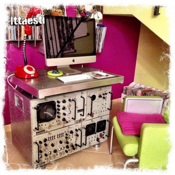 Oscilloscope metal desk in furniture  with Electronics & E Waste Desk