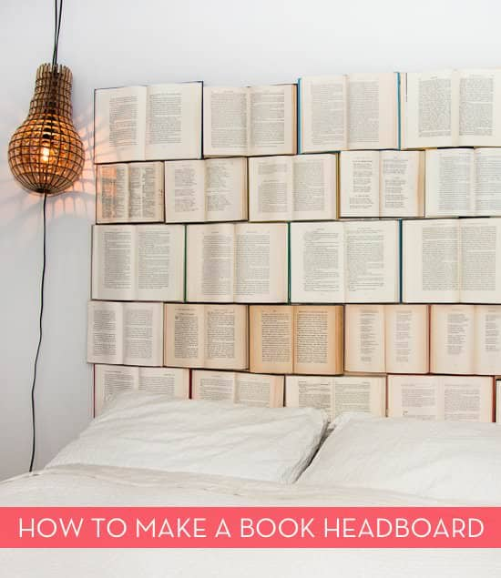 Book headboard Do-It-Yourself Ideas Recycling Paper & Books