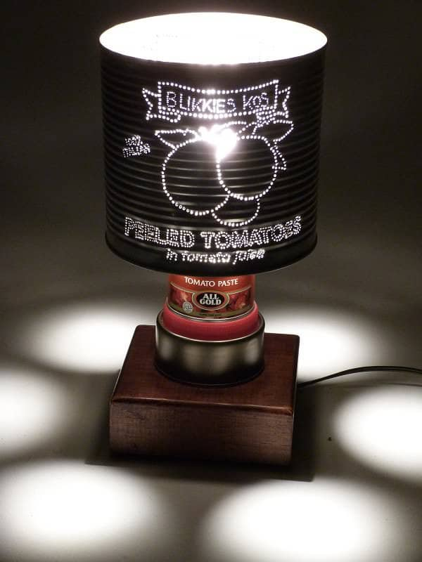 Table Lamps in packagings lights  with Tin Light Lamp Cans