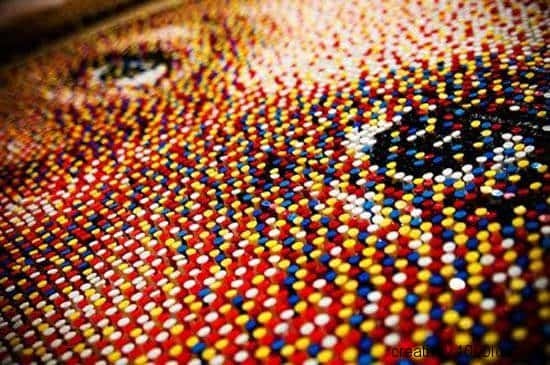 Portraits Made Out Of 11,000 Upcycled Pushpins Recycled Art