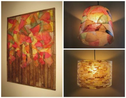 Fall Foliage & Lighting With Recycled Coffee Filters