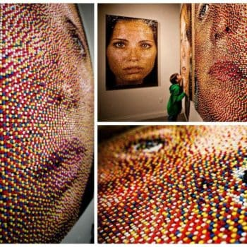 Portraits Made Out Of 11,000 Upcycled Pushpins