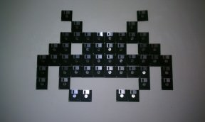 Floppy disk Invaders