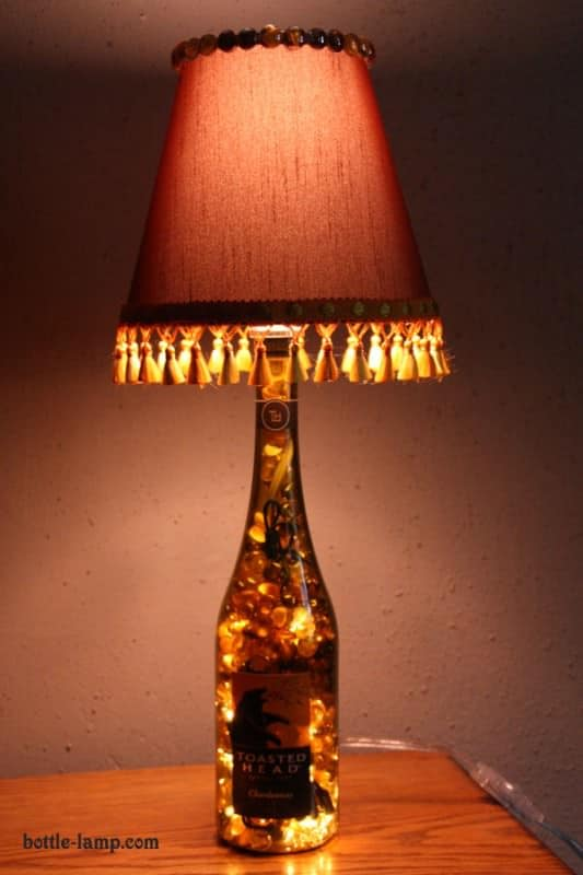 Recycled DIY Bottle Lamps Accessories Do-It-Yourself Ideas Lamps & Lights Recycled Glass