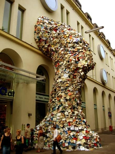 'Cascading Books' Installations