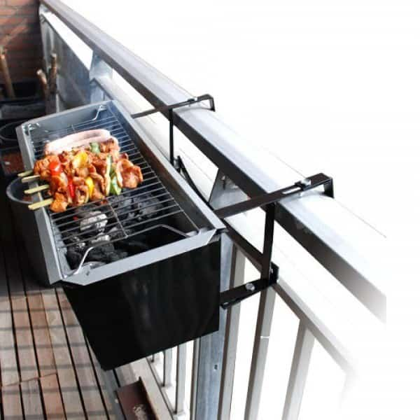 BBQ for your balcony in diy  with kitchen Garden Flowers BBQ