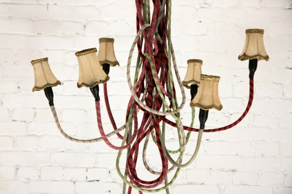 chandelier son of nils 600x399 Climbing lamps in lights  with rope Light Lamp 