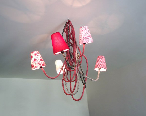 Climbing lamps in lights  with rope Light Lamp