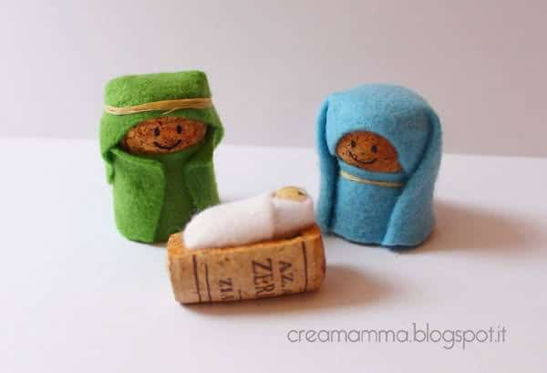 corks nativity small1 Corks Nativity in diy  with Upcycled Recycled