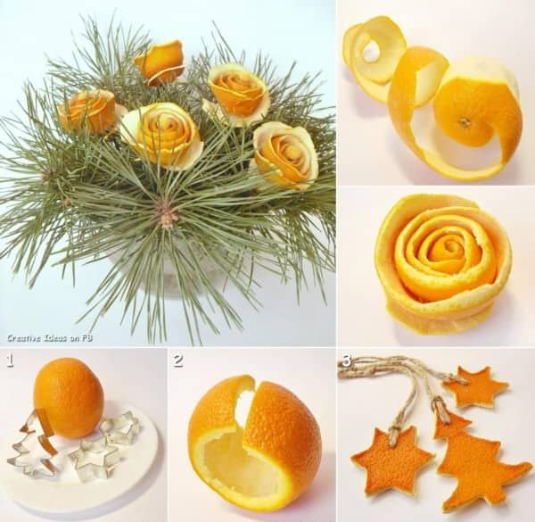 DIY : Christmas bouquet in social diy  with orange fruit Christmas bouquet