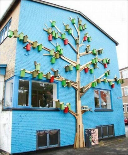 Tree to hide a drain pipe