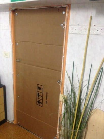 Cardboard door