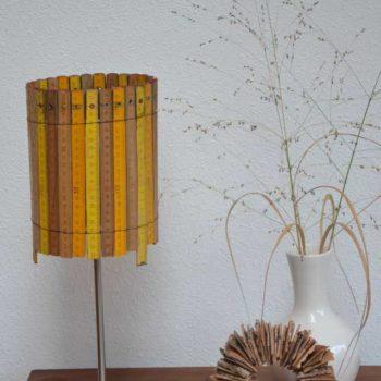 Lamp made of rulers