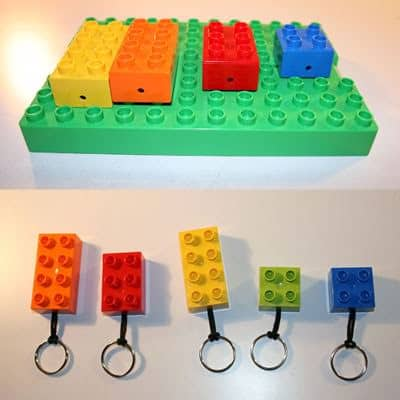 Legos Key Hanger Do-It-Yourself Ideas