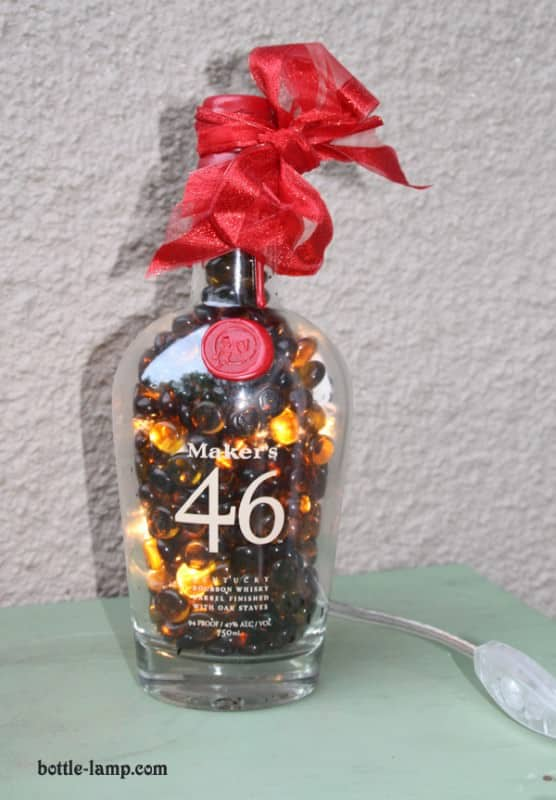 Recycled DIY Bottle Lamps in lights glass diy accessories  with Upcycled Table Reused Recycled Light Lamp Glass DIY Craft Bottle