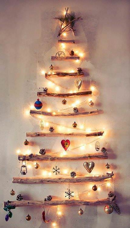 natural christmas tree Natural christmas tree in wood diy  with Tree Decoration Christmas