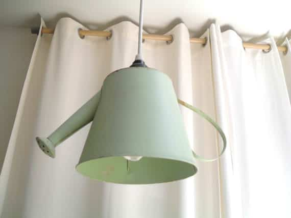 Watering Can Pendant Light Do-It-Yourself Ideas Lamps & Lights Recycling Metal
