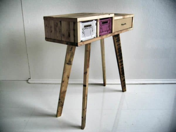 Recycled wooden pallet furniture in wood furniture pallets 2 diy  with upcycled furniture Pallets Drawer Crates