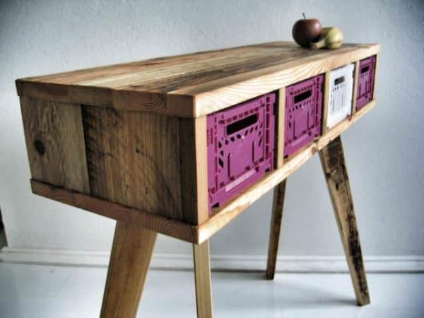 Recycled Wooden Pallet Desk Recycled Ideas Recyclart