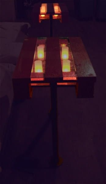 Re-purposed Pallets as Lightbox tables. Recycled Furniture Recycled Pallets