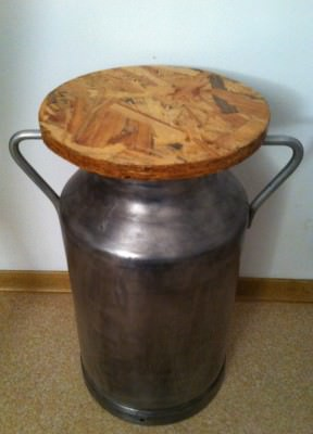 Milk can stool