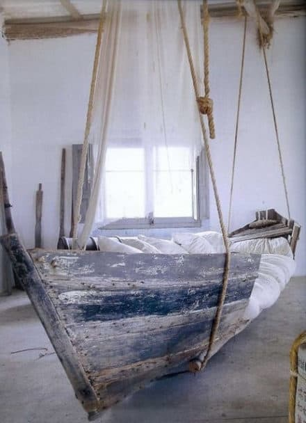 Upcycled boat bed
