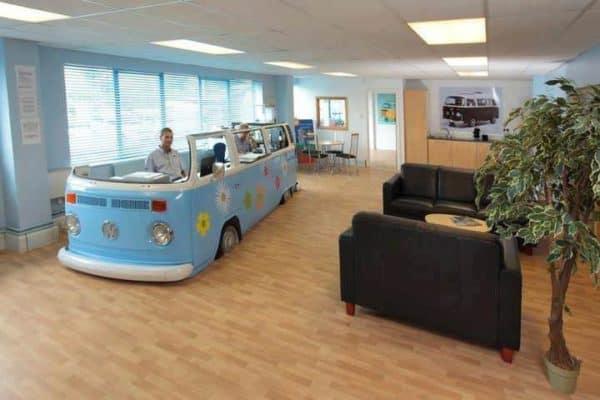 Volkswagen Van –> Office Home Improvement