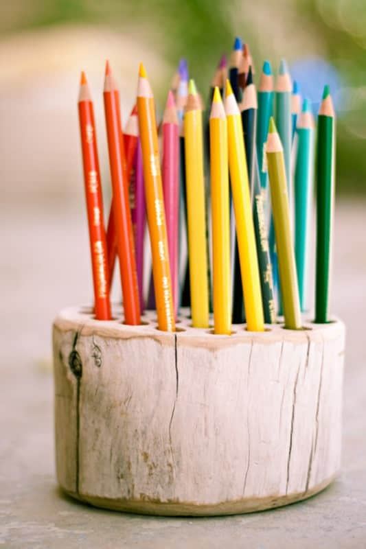 Wood pencil holder Do-It-Yourself Ideas Wood & Organic
