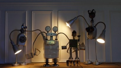 Construction of recycled robots