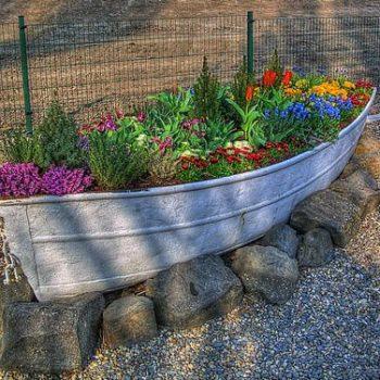 Old boat planter