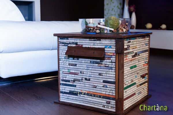 Chartana cubox in furniture  with Wood Newspaper Coffee Table