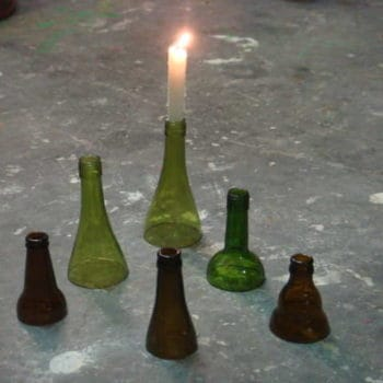 Bottle neck candle holders