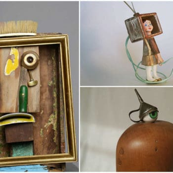 Sculptures From Recycled Found Objects