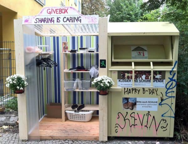 Givebox in social diy  with Street Art Social Box