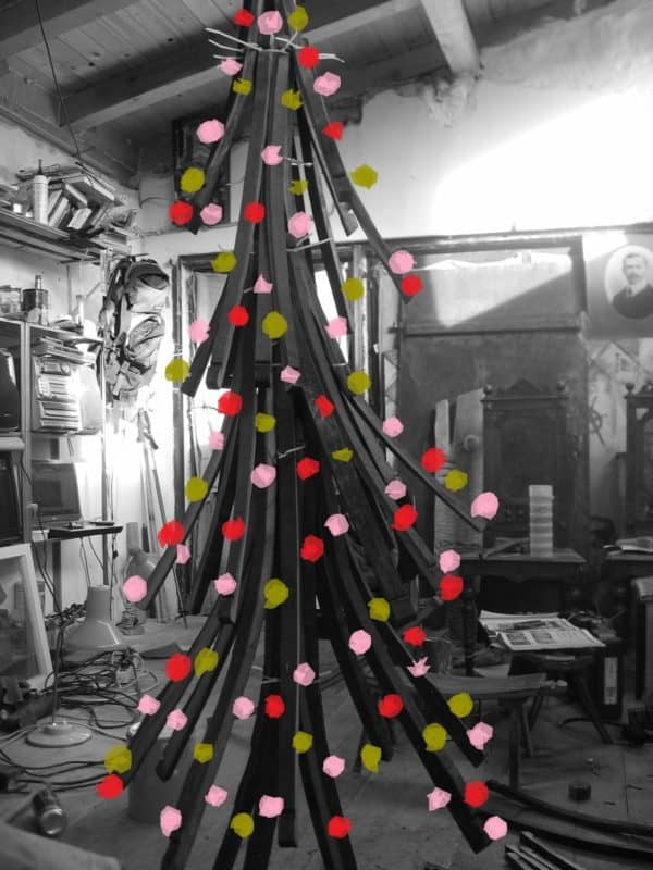 Wine Barrel Christmas Tree Wood & Organic